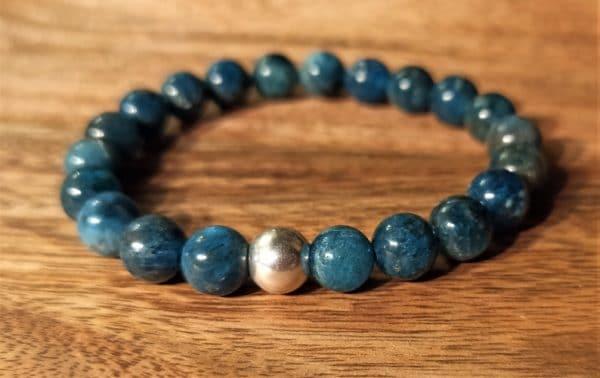 Bracelet Shiva Apatite Bleue pour homme