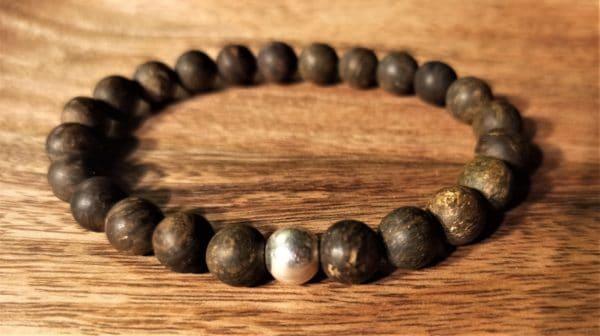 Bracelet modèle Shiva, Bronzite, pour homme