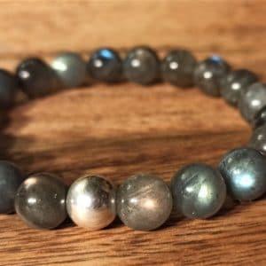 Bracelet Labradorite perle d'argent