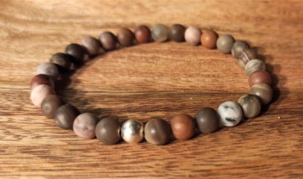Bracelet Tara, pour femme, bois pétrifié