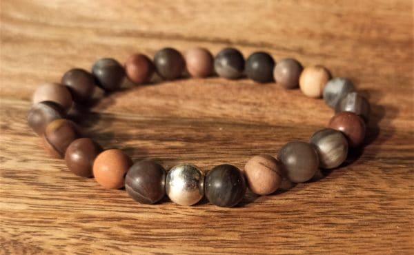 Bracelet modèle Shiva Bois pétrifié pour homme