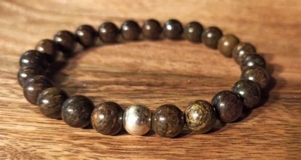 Bracelet Shiva Bronzite pour homme