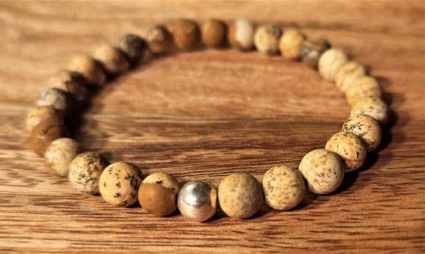 Bracelet pour femme Tara, Jaspe paysage argent 925