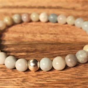 Bracelet en Amazonite et perle d'argent