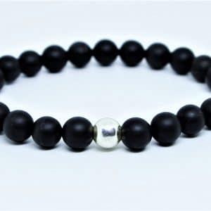 Bracelet Obsidienne dépolie