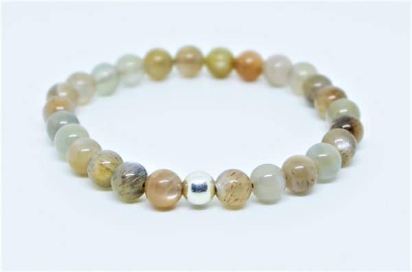 Bracelet Pierre de Lune Adulaire et perle d'argent