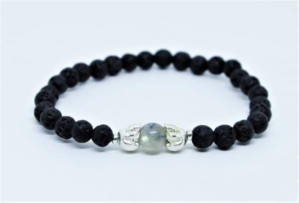 bracelet pierre de lave labradorite