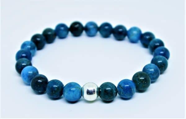 Bracelet homme Apatite Bleue