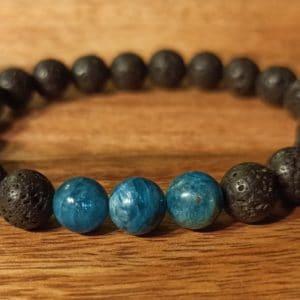 Bracelet «Java» Apatite, pour homme