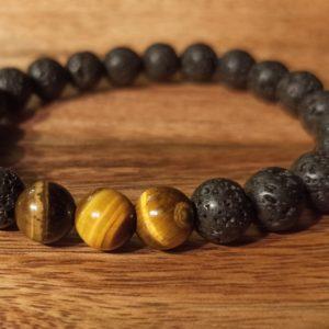 Bracelet «Java» Œil de Tigre Pour homme