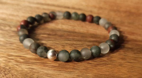bracelet femme héliotrope argent