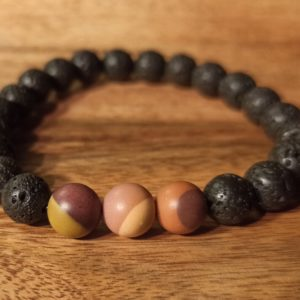 Bracelet «Java» Jaspe Mokaïte pour homme