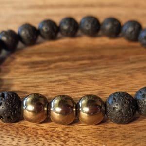 Bracelet «Java» Pyrite pour homme