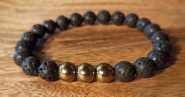 """Bracelet """"Java"""" Pyrite pour homme"""