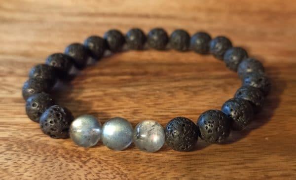 """Bracelet """"Java"""" Labradorite, pour homme"""