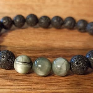 Bracelet «Java» Œil d'aigle, pour homme