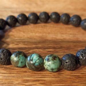Bracelet «Java» Turquoise Africaine, pour homme