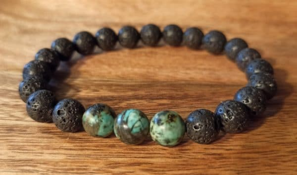 "bracelet ""Java"" turqoise africaine, pour homme"