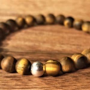 Bracelet Tara œil de tigre mat, pour femme