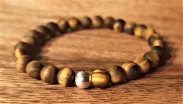 Bracelet Tara pour femme Oeil de tigre dépoli