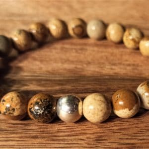 Bracelet Shiva, Jaspe paysage, pour homme