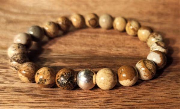 Bracelet Shiva Jaspe paysage pour homme